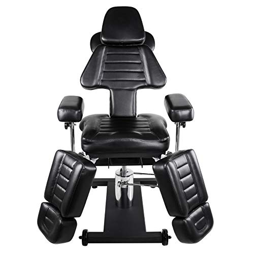 VBARV Professional Hydraulic Tattoo Chair-for Massage Bed Chair Table Tattoo Studio Salon Equipment Multifunctional Lift Chair Beauty Tattoo Bed