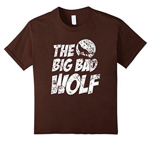 Kids The Big Bad Wolf Shirt, Funny Cute Halloween Costume Gift 6 Brown (Funny Cute Women Halloween Costumes)