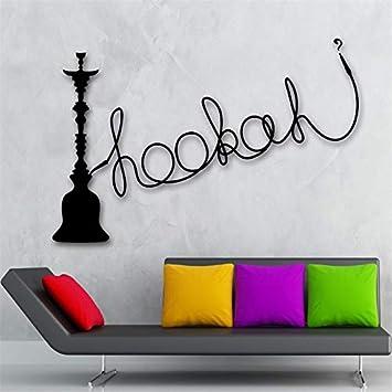 Handaxian Shisha Shisha Pegatina de Pared Vinilo Cultura árabe decoración para Fumar 56x91 cm