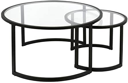Henn Hart Double Circular Black Coffee Table