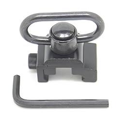 Zengi QD Heavy Duty Quick Detachable Push Button Sling Swivel with Picatinny Mount 20mm