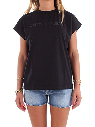 Nero Donna Klein Corta Manica T Shirt Calvin Nera x08UOq8