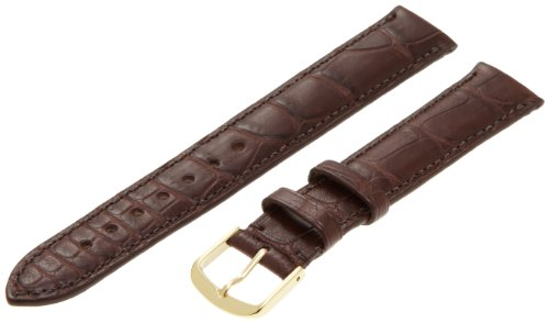 Hadley-Roma Men's MS2005RZ-170 17-mm Dark Brown Genuine Alligator Leather Watch Strap
