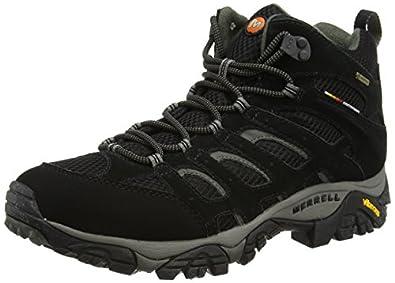 2016 Hot Sale Merrell Moab Mid Gore tex Walking Shoes Men Grey FMMAA69