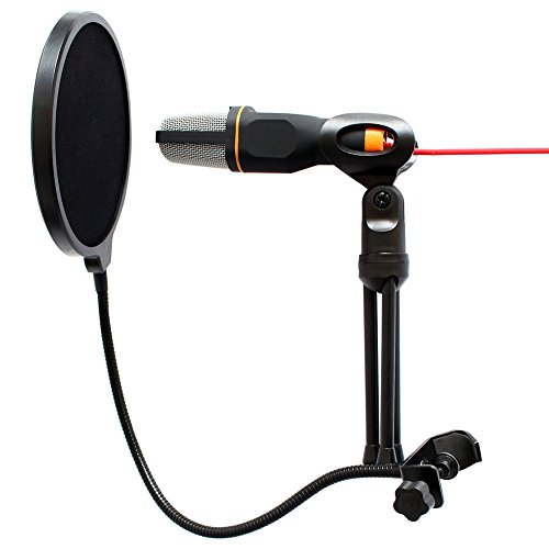 Artempo Studio Microphone Set Condenser Microphone with Stand, Pop Filter and 360 Flexible Gooseneck Holder