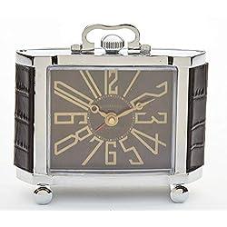 Pendulux Richmond 4 1/2 High Nickel Plate Art Deco Alarm Clock