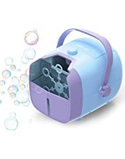 NATURLIFE máquina portátil de burbujas, mecanismo de soplado automático con batería/adaptador de corriente alterna para uso en interiores o exteriores, azul