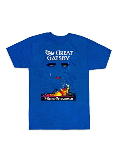 Out of Print Men's The Great Gatsby (First Edition) T-Shirt Small Royal Blue