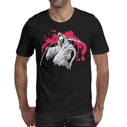 Melinda Halloween Skull Ghost Axe Men's t Shirts Casual Mens Guys Halloween Costume -