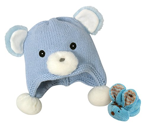 Stephan Baby Knit Bear Hat and Boo Bunnie Comfort Toy Gif...