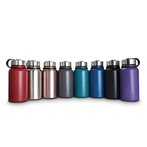 KINGSO 20 oz Insulated Water Bottle Wide Mouth BPA Free Travel Mug Double Walled Stainless Steel Sport Vacuum Flask for Hot and Cold Beverages