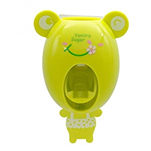 Money coming shop For Kids Cute Cartoon animals Design Set Cartoon bathroom household Toothbrush Holder Automatic Toothpaste Dispenser toothpaste