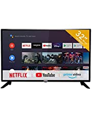 RCA RS32H2 Smart TV (32 inch HD-ready Android TV with Google Assistant, Google Play Store, Prime Video, Netflix) HDMI, USB, WiFi, BlueTooth, Triple Tuner (DVB-C / -T2 / -S2)