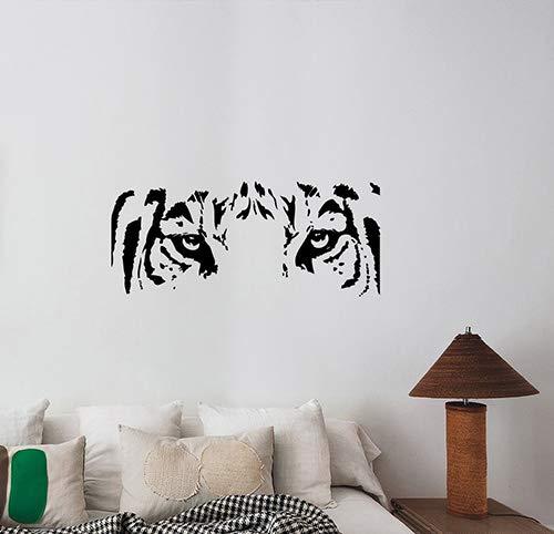 Tiger Eyes Wall Decal Vinyl Sticker African Animal Art Wildlife Decorations for Home Living Dorm Room Interior Safari Decor Ideas tgr13 (Decorating Animal Print Bathroom Ideas)