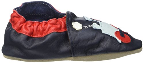 Jack & Lily Originals Train Navy/Brown - Zapatillas de piel super divertidas y coloreadas, multicolor