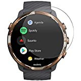 VIESUP for Suunto 7 Smartwatch Screen Protector Tempered Glass,HD Clear Anti-Scratch Full Coverage Screen Protector Protectiv