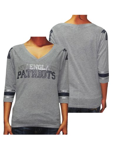Womens NFL New England Patriots  71 V-Neck 3 4 Sleeve T Shirt by Pink Victoria s  Secret XS Grey - Buy Online in UAE.  90db04333