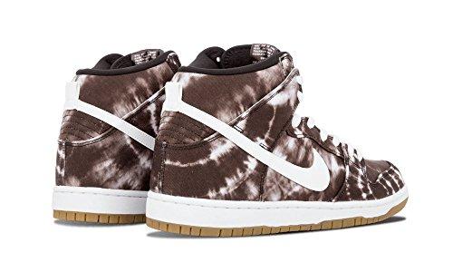 Nike Herren SB Dunk High Premium Skate Schuhe Schwarz / Weiß-Weiß