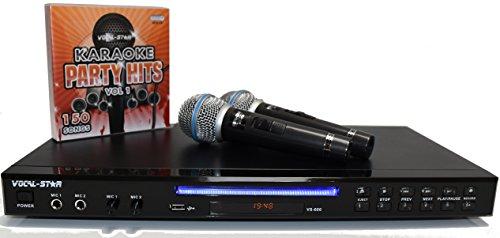Vocal-Star VS-600 Black Karaoke Machine 2 Microphones & 150 Songs