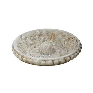 Lazy Susan Aged Florid Ceramic Bowl