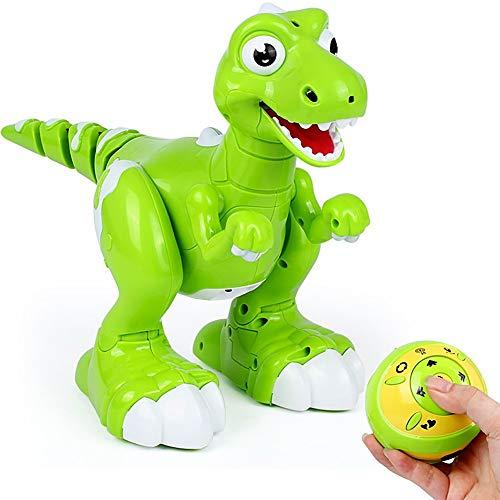 Dinosaur Toys, Remote Control Toys Walking Electronic Pet Cuddly Sing Dance Music Function, Interactive Spraying Water Dino Gift Kids Children Boys Girls