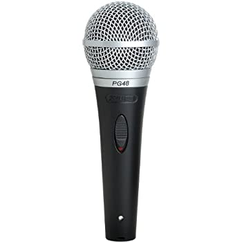 shure pg48 qtr cardioid dynamic vocal microphone with on off switch includes 15 39 xlr. Black Bedroom Furniture Sets. Home Design Ideas