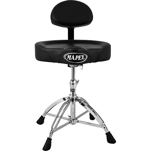 Mapex Throne - Four Legged Double Brace Throne With Adjustable Back Rest