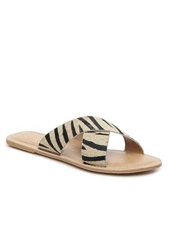 db0d09e34db3 Matisse Womens Pebble Zebra Animal Print Sandal – Size 9