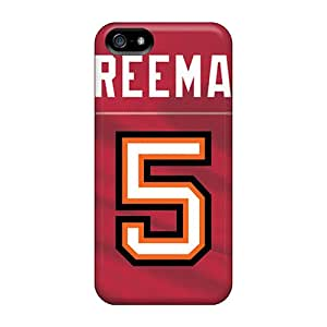 Scratch Resistant Hard Phone Cover For Iphone 5/5s (VvS8035BnmW) Custom High Resolution Tampa Bay Buccaneers Image