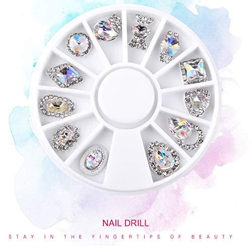 Nail Alloy Jewelry Gold Symphony AB Rhinestone Nail Tools Accessories Elegant Great Popular Nail Jewelry