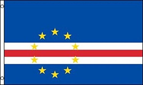 3x5 Cape Verde Flag Island Banner Pennant Vivid Color and UV Fade Resistant Canvas Header and Double Stitched polyester (Cape Verde Islands Flag)