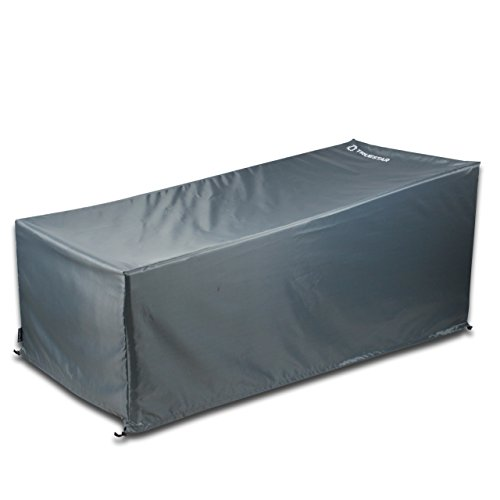 TRUESTAR Patio Chaise Lounge Cover Durable and Waterproof Outdoor Furniture Cover with Non Woven Oxford Fabric Material, Eco-Friendly, Fade Resistant by TRUESTAR