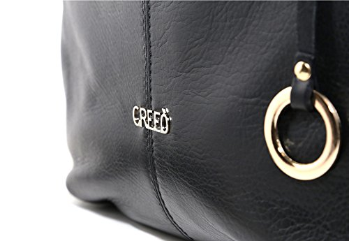 Borsa in pelle sauvague, Made in Italy ''CREEO'' Nera