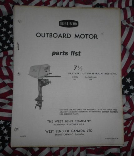 West Bend Chrysler Outboard 7.5 1/2 HP Parts Catalog (Chrysler Outboard Parts Catalog)