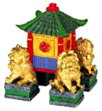 Blue Ribbon Pet Products ABLEE556 Garden Pagoda with Fu Dogs Ornaments for Aquarium, My Pet Supplies