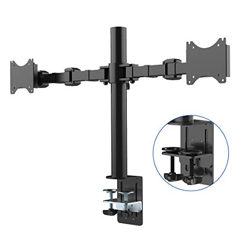FLEXIMOUNTS D1D Full Motion Dual Arm Desk Monitor Mount Stand Fits 10'-27'...