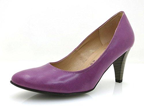 Laura Lenti Ladies classic Pumps Shoes purple 5050 Purple FGx06L