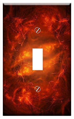 Switch Plate Single Toggle - Fractal Abstract Background Physics Science 17