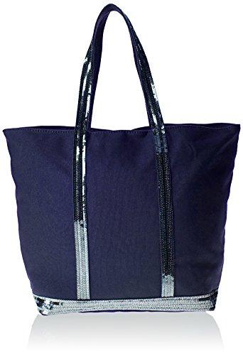 Vanessa Bruno 0Pve01-V40409 - Bolso de tela para mujer talla única Azul - Bleu (890 Indigo)