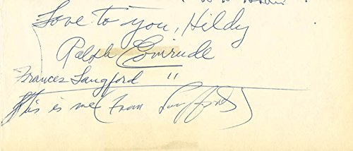 Ralph Evinrude Autograph Note Signed co signed By: Frances Langford