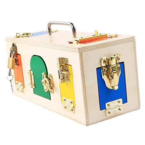 Creative Montessori Colorful Lock Box Kids Educational Preschool Training Toys