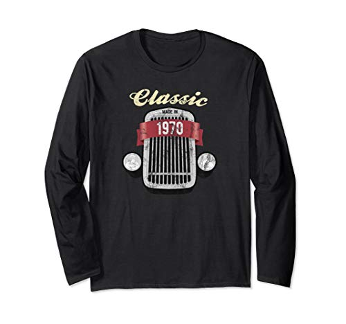 Classic 1970 Birthday Antique Car Collector 49th Birthday Long Sleeve T-Shirt