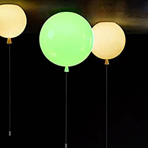 MY'S Modern LED Pendant Lamp Balloon Bedroom Ceiling Light Warm Decoration (Green)