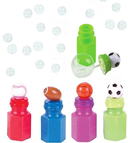 12 Children Sports Bottle Top Bubble - Pack of 12 Kids Sport