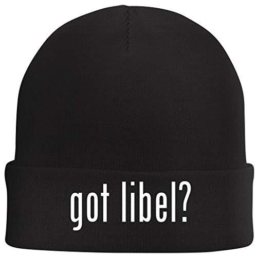Tracy Gifts got Libel? - Beanie Skull Cap with Fleece Liner, Black