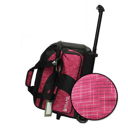 Pyramid Path Deluxe Double Roller Bowling Bag (Black/Fuchsia Circuit)