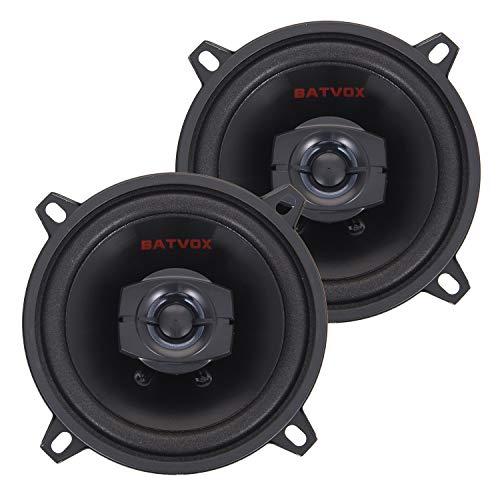BATVOX 5.25-Inch Full-Range 2-Way Coaxial Speaker Car Audio Coaxial Speakers Stereo - Set of 2