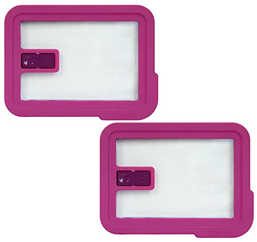 Pyrex 7210-NLC Rectangle Pink 3 Cup Vented No Leak Lid for 7210 Dish (2-Pack)