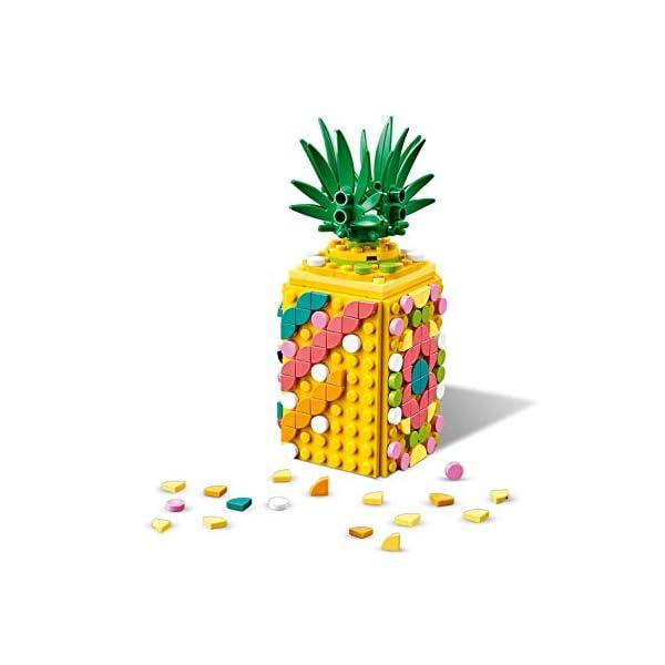 LEGO- Dots Portapenne Decora i Pannelli dell'Ananas e della Piccola Scatola Anguria ed Esponi Le tue Creazioni, Set di… 4 spesavip