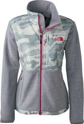 The North Face Women Denali Jacket, High Rise Grey Heather/Wind Chime Grey Camo, Small